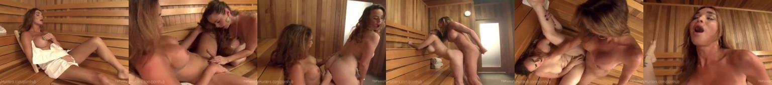 Przygoda w saunie w panienka z fiutem